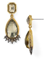Alexis Bittar | Metallic Crystal Studded Spur Trimmed Pyrite Doublet Earrings | Lyst