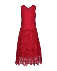 Scee By Twin-set - Red Knee-Length Dress - Lyst