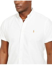 Polo Ralph Lauren | White Big And Tall Short-sleeved Oxford Shirt for Men | Lyst