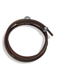David Yurman - Armory Triplewrap Bracelet in Brown for Men - Lyst