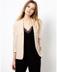 ASOS | Natural Longline Lapel Tailored Blazer | Lyst