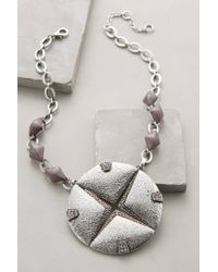 Anthropologie   Metallic Emblem Pendant Necklace   Lyst