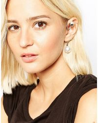Cheap Monday - Metallic Salt Faux Pearl Earcuff - Lyst
