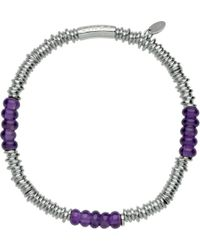 Links of London | Purple Sweetie Extra-small Sterling Silver Bracelet - For Women | Lyst