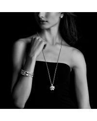 David Yurman - Metallic Cable Classics Bracelet with Gold Domes and Diamonds - Lyst