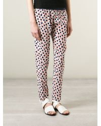 Vanessa Bruno Athé - Multicolor Printed Slim Trousers - Lyst