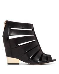 BCBGeneration | Black Charlie Leather Wedge Sandals | Lyst