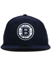 KTZ - Blue Boston Bruins C-Dub 59Fifty Cap for Men - Lyst