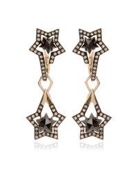 Tomasz Donocik - Detachable Black Diamond Drop Earring - Lyst