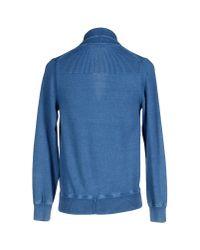 Drumohr Blue Cardigan for men