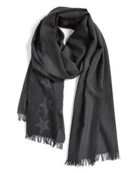 John Varvatos - Black Flag Print Scarf for Men - Lyst