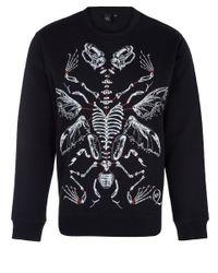 McQ - Black Animal Xray Print Cottonblend Sweatshirt for Men - Lyst