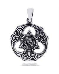 Aeravida | Metallic Celtic Knots Vector Balance .925 Sterling Silver Pendant | Lyst