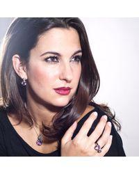 Manja - Metallic Lana Amethyst And Blue Topaz Earrings - Lyst