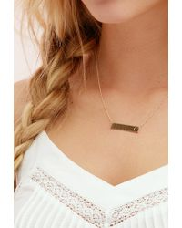 Forever 21 - Metallic Adorn512 Initial J Bar Necklace - Lyst
