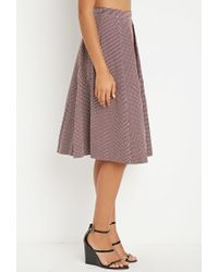 Forever 21   Purple Contemporary Micro-grid Pleated A-line Skirt   Lyst