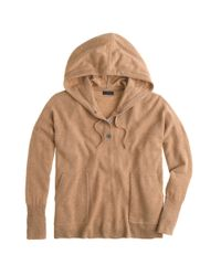 J.Crew - Natural Collection Cashmere Patch-pocket Hoodie - Lyst