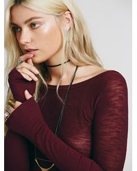 Free People - Purple Intimately Womens With You Layering Top - Lyst