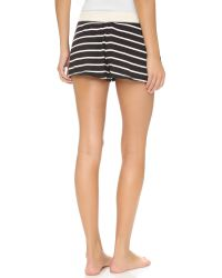 Splendid | Black Lounge Shorts | Lyst