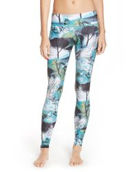 Onzie | Blue Low-Rise Printed Leggings | Lyst