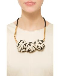 Marni | Brown Triple Knot Necklace | Lyst