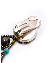Ziio | Red Oval Multi-Bead Drop Clip Earrings | Lyst