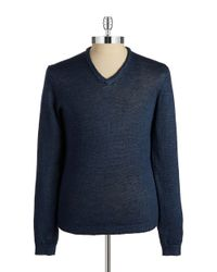 Strellson | Blue V-Neck Knit Pullover for Men | Lyst