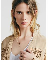 Free People - Metallic Clp Jewelry Womens Threaded Arrow Necklace - Lyst
