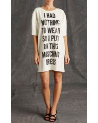 Moschino | White Nothing To Wear Sequin Shirt Dress | Lyst