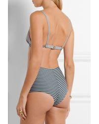 La Perla - - Sailor Stripes Triangle Bikini Top - Gray - Lyst