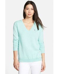 Vineyard Vines | Blue 'candlewood' V-neck Sweater | Lyst