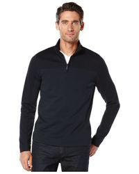 Perry Ellis | Blue Quarter-zip Sweater for Men | Lyst