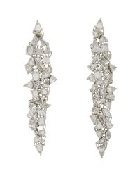 Monique Pean Atelier | Metallic Women's Diamond & White Gold Long Drop Earrings | Lyst