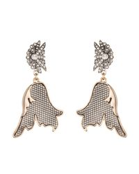 Lulu Frost - Black Nightshade Drop Earring - Lyst