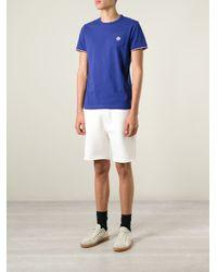 Moncler | Blue Classic T-Shirt for Men | Lyst