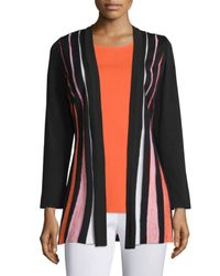 Misook - Multicolor Pleated-Front Crepe Jacket - Lyst