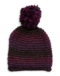 Steve Madden | Purple Metallic Knit Cap | Lyst