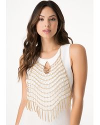 Bebe | Metallic Bead & Fringe Body Jewelry | Lyst