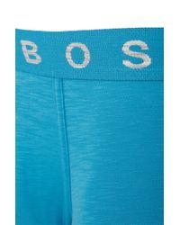 BOSS - Blue Boxer Shorts In Stretch Cotton: 'boxer Authentik' for Men - Lyst