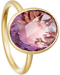 Astley Clarke - Purple Amethyst Large Oval Stilla 18ct Yellow Gold-plated Ring - For Women - Lyst