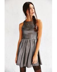 Kimchi Blue | Metallic Shimmer Fit + Flare Dress | Lyst