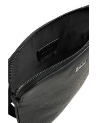 BOSS Black Leather Shoulder Bag: 'gotio' for men