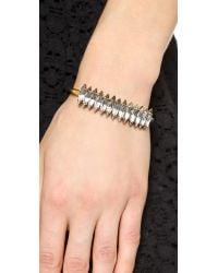 Elizabeth Cole | Metallic Adela Bracelet - Crystal Silver | Lyst