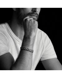 David Yurman | Metallic Curb Chain Bracelet With Gray Sapphires for Men | Lyst