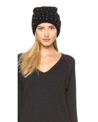 Markus Lupfer - Black Scattered Jewels Beanie Hat - Lyst