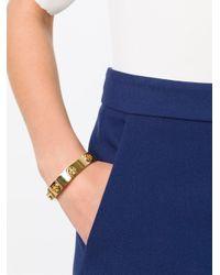 Tory Burch | Metallic Logo Bangle Bracelet | Lyst
