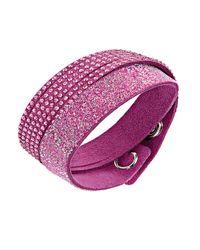 Swarovski | Slake Purple Duo Bracelet | Lyst