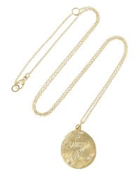 Brooke Gregson | Metallic Cancer 14-karat Gold Diamond Necklace | Lyst