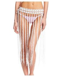 Beauty & The Beach - White Hula-la Skirt - Lyst