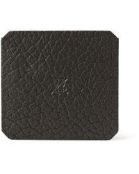 Parabellum - Black Fullgrain Bison Leather Cardholder for Men - Lyst